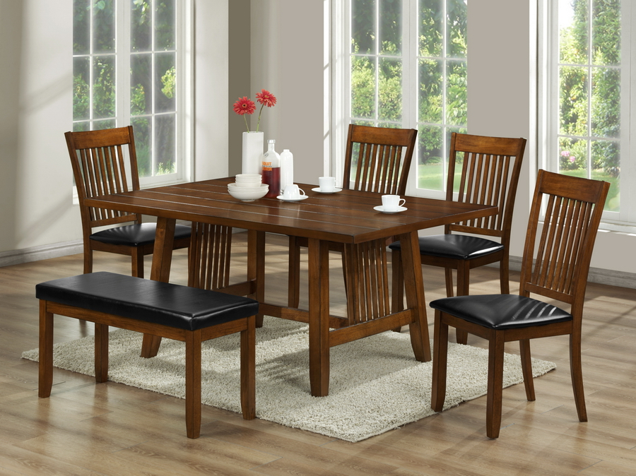 Mission Style Dining Room Sets With Simple Rectangle Table And 6piece