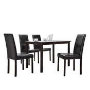 Baxton Studio Andrew 5-Piece Modern Dining Set Baxton Studio Andrew 5-Piece Modern Dining Set, Dining Room Furniture