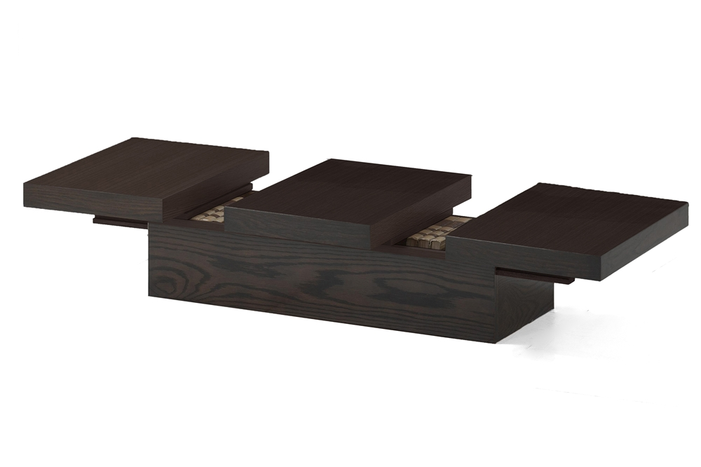 Cambridge Brown Wood Modern Coffee Table With Hidden Storage Interior Express
