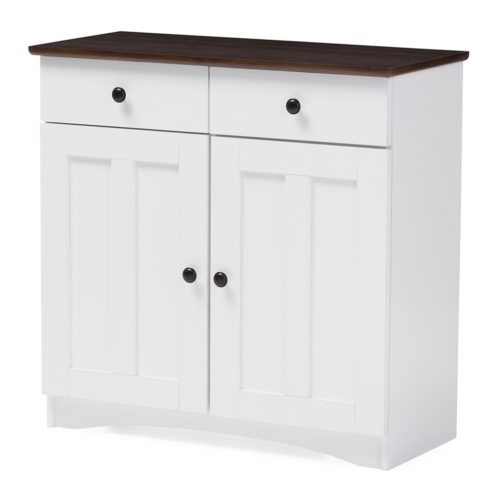 Baxton Studio Lauren Modern And Contemporary Two Tone White And Dark