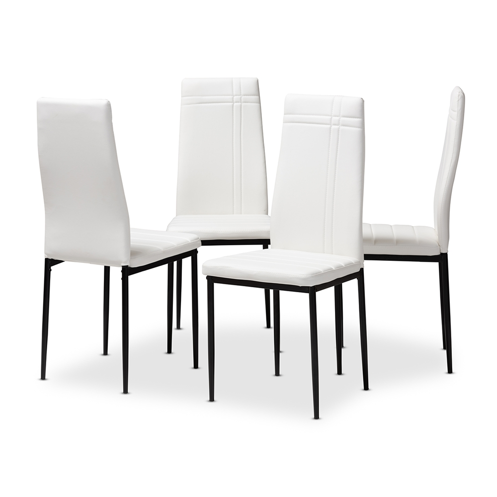 Baxton Studio Matiese Modern and Contemporary White Faux ...