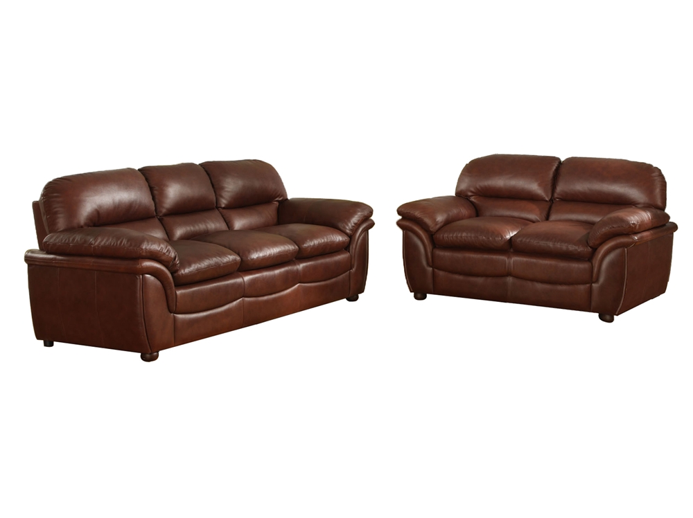 baxton studio redding cognac brown leather modern sofa set. Black Bedroom Furniture Sets. Home Design Ideas