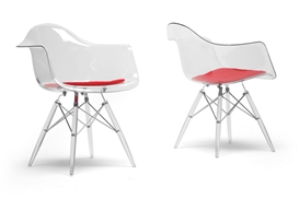 Baxton Studio Maisie Clear Plastic Mid-Century Modern Shell Chair - Arm Chair  (Set of 2) Baxton Studio Maisie Clear Plastic Mid-Century Modern Shell Chair - Arm Chair  (Set of 2), 132-CPC-Clear/Red cushion compare Baxton Studio Maisie Clear Plastic Mid-Century Modern Shell Chair - Arm Chair  (Set of 2), best price on Baxton Studio Maisie Clear Plastic Mid-Century Modern Shell Chair - Arm Chair  (Set of 2), discountBaxton Studio Maisie Clear Plastic Mid-Century Modern Shell Chair - Arm Chair  (Set of 2), cheapBaxton Studio Maisie Clear Plastic Mid-Century Modern Shell Chair - Arm Chair  (Set of 2)