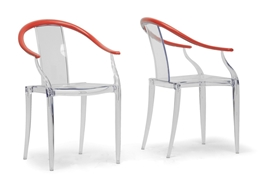 Baxton Studio Pru Clear and Red Modern Dining Chair (Set of 2) Baxton Studio Pru Clear and Red Modern Dining Chair (Set of 2), 164-BPC-Clear compare Baxton Studio Pru Clear and Red Modern Dining Chair (Set of 2), best price on Baxton Studio Pru Clear and Red Modern Dining Chair (Set of 2), discountBaxton Studio Pru Clear and Red Modern Dining Chair (Set of 2), cheapBaxton Studio Pru Clear and Red Modern Dining Chair (Set of 2)
