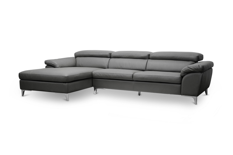 Baxton Studio Voight Gray Modern Sectional Sofa Interior
