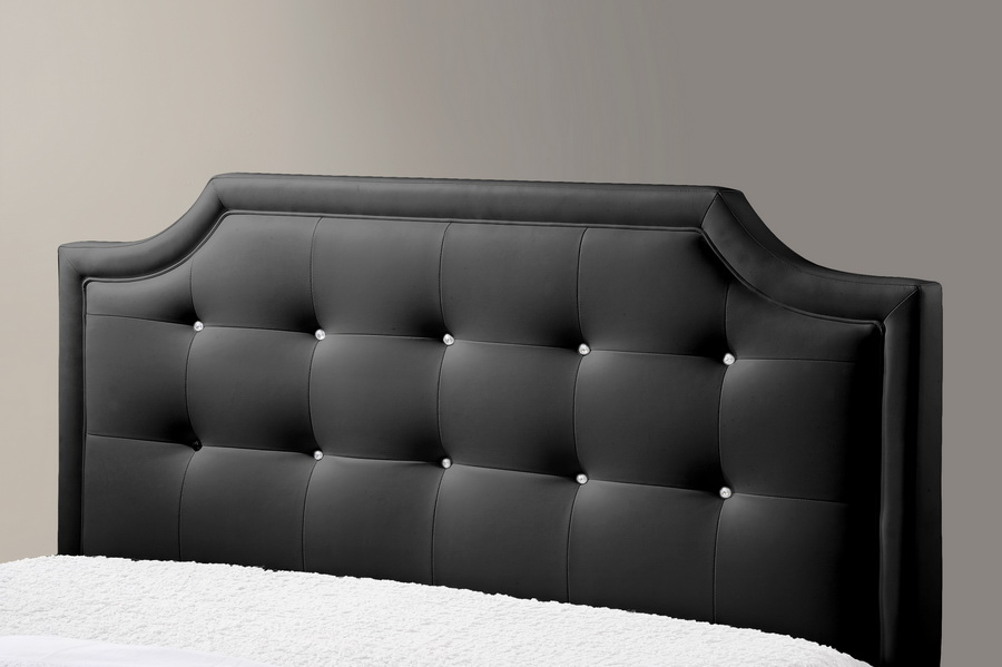 Baxton Studio Carlotta Black Modern Bed With Upholstered Headboard King Size Iebbt6376