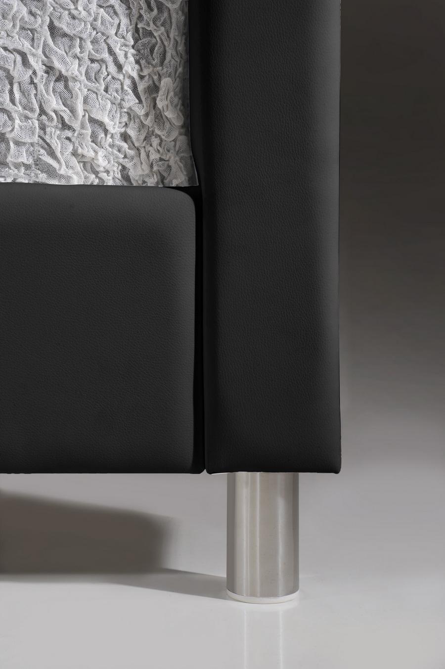 Baxton Studio Carlotta Black Modern Bed With Upholstered Headboard Queen Size Iebbt6376