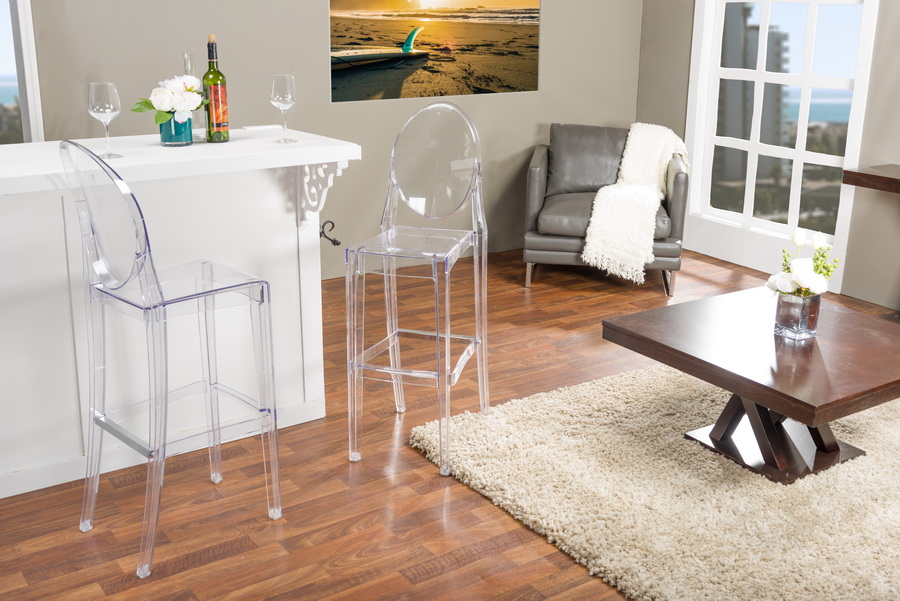 clear acrylic bar stools australia nz studio infinity plastic contemporary stool set transparent