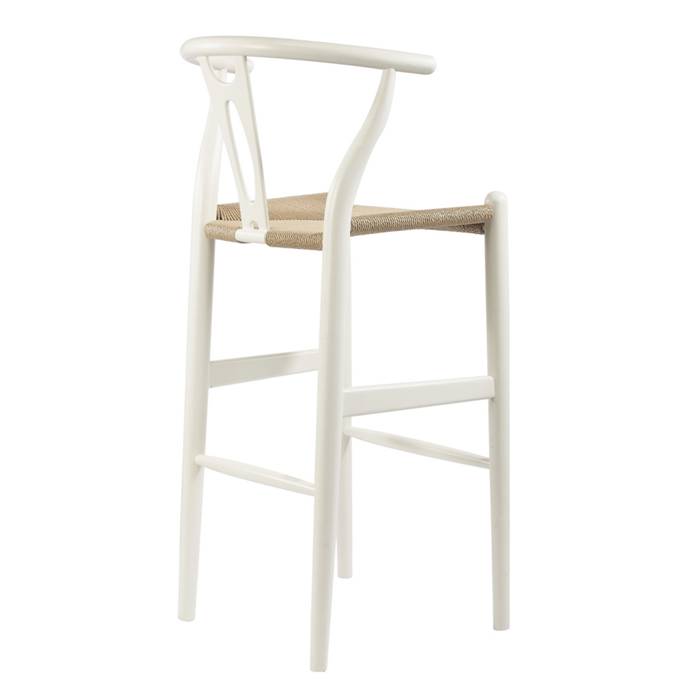 baxton studio mid century modern wishbone stool white wood y stool