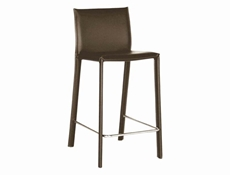 Crawford Brown Leather Bar Height Bar Stool 30 (set of 2)