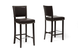 Baxton Studio Aries Dark Brown Modern Bar Stool with Nail Head Trim Aries Dark Brown Modern Bar Stool with Nail Head Trim, BBT5112 Bar Stool-Brown compare Aries Dark Brown Modern Bar Stool with Nail Head Trim, discount Aries Dark Brown Modern Bar Stool with Nail Head Trim, cheap Aries Dark Brown Modern Bar Stool with Nail Head Trim