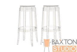 Ghost Stools - Bettino Acrylic Barstools Set of 2