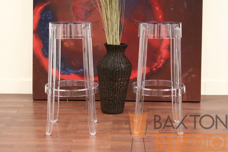 ghost stools bettino acrylic barstools set of 2