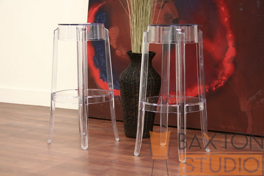 Ghost Stools Bettino Clear Acrylic Bar Height Bar Stools