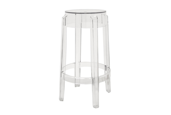 Bettino Clear Acrylic Counter Height Stool