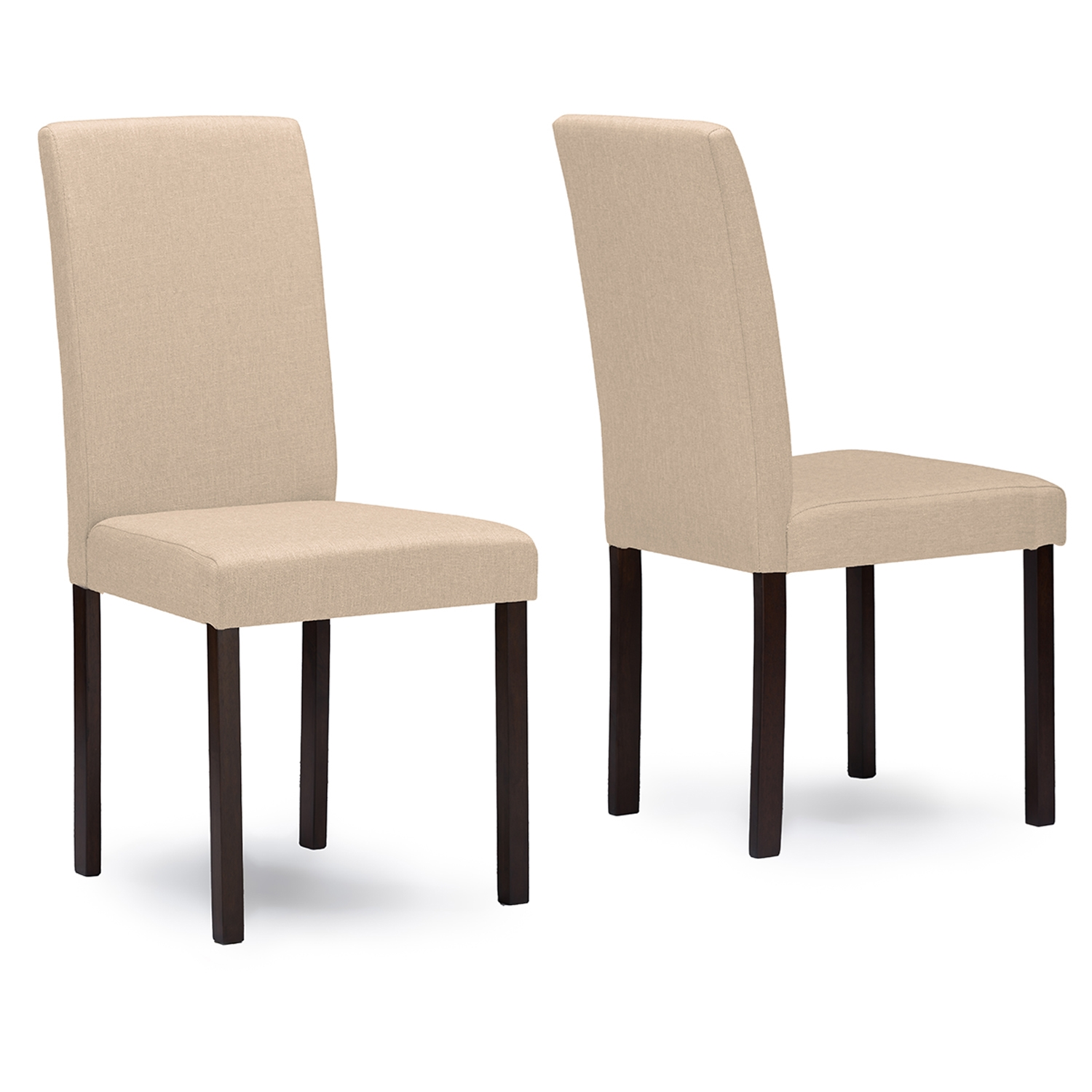 baxton studio andrew espresso wood beige fabric dining chair baxton studio restaurant furniture hotel