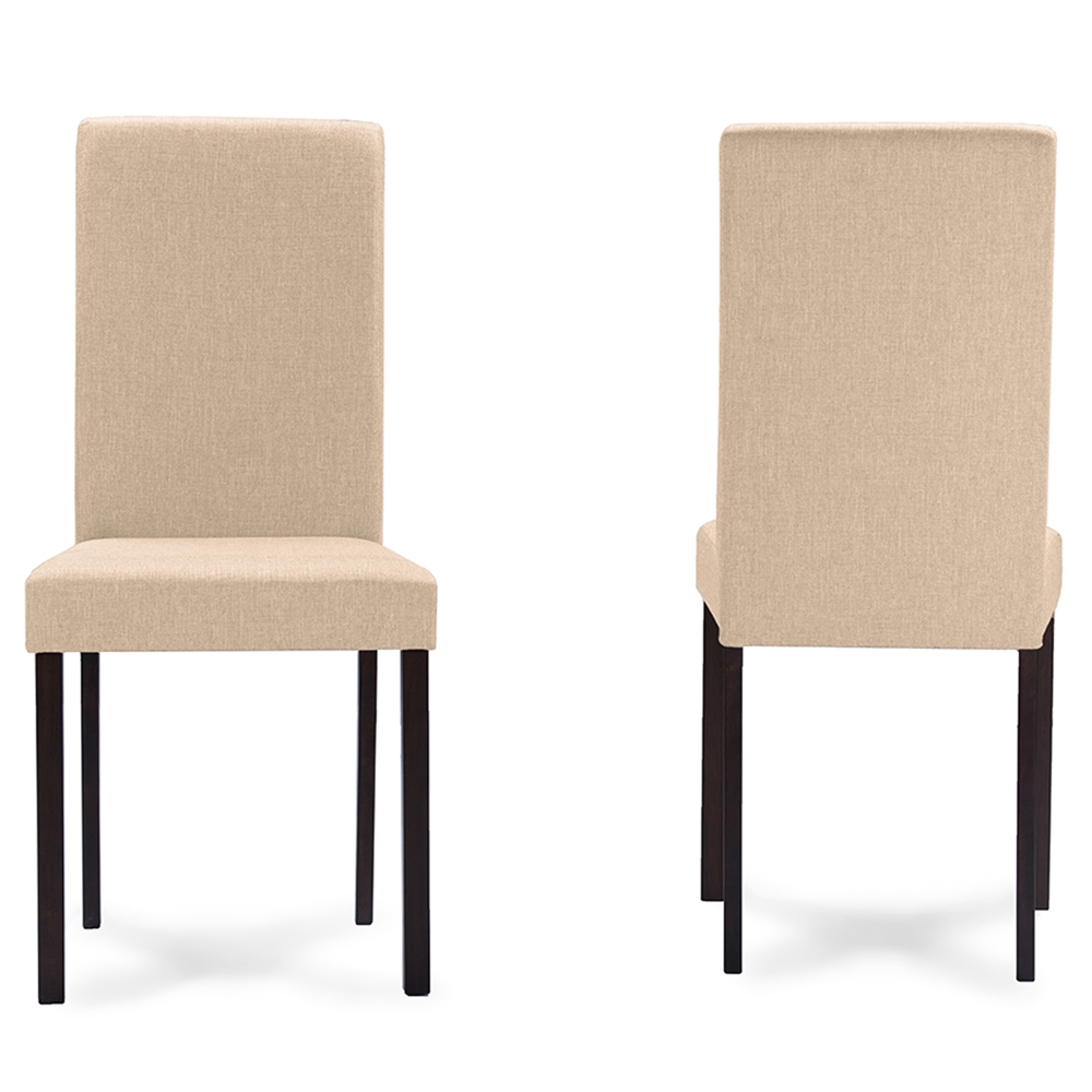 Baxton Studio Andrew Contemporary Espresso Wood Beige  : Andrew Dining Chair Beige Fabric 3 from www.interiorexpress.com size 1000 x 1000 jpeg 252kB