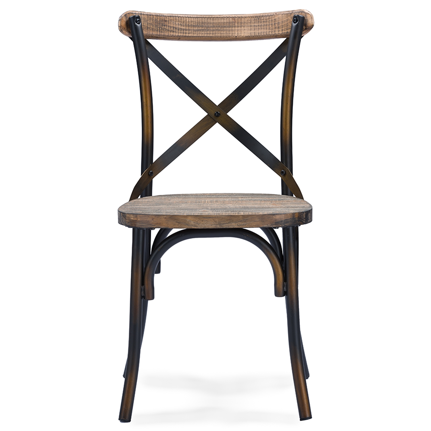 ... Baxton Studio Konstanze Industrial Walnut Wood And Metal Dining Chair  In Antique Cooper Finishing   IEM ...