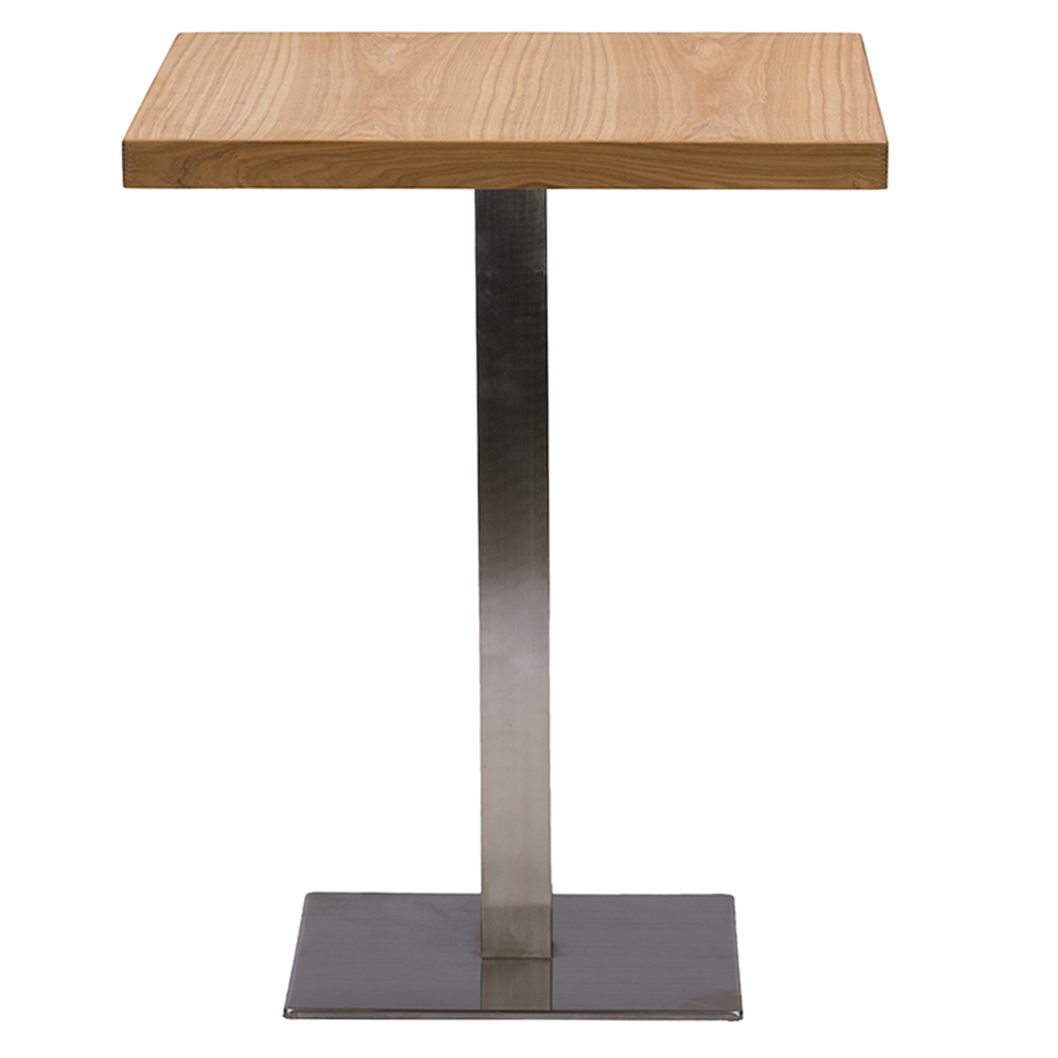 baxton studio owen 24inch square natural top bistro table with chrome base iem