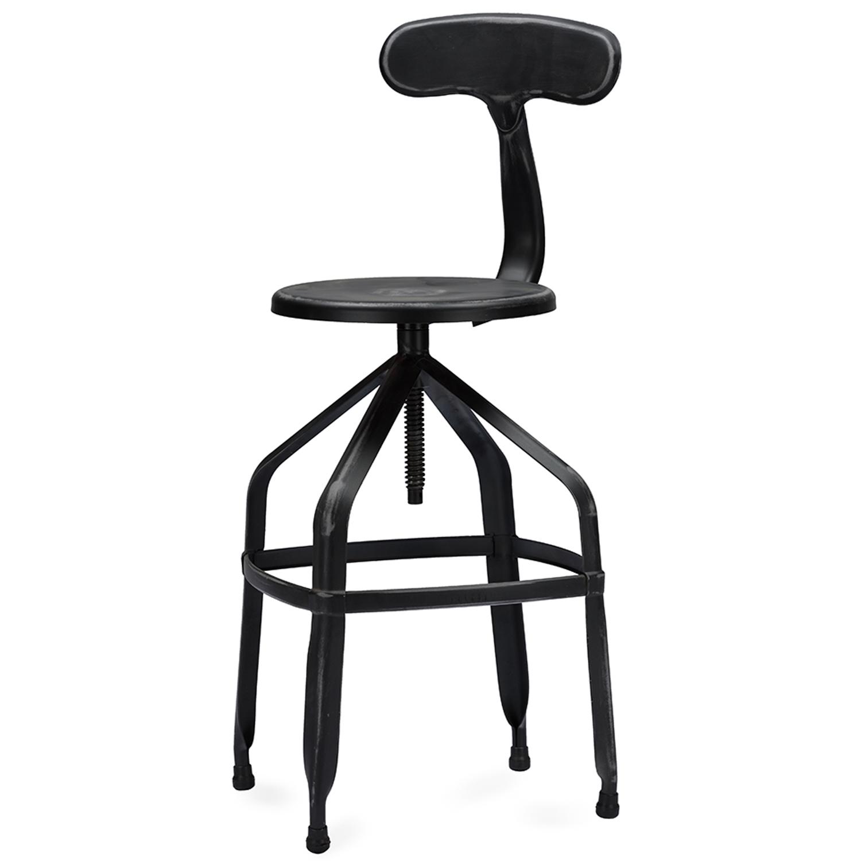 Genial ... Baxton Studio Architectu0027s Industrial Bar Stool With Backrest In Antique  Black   IEM 94137X  ...