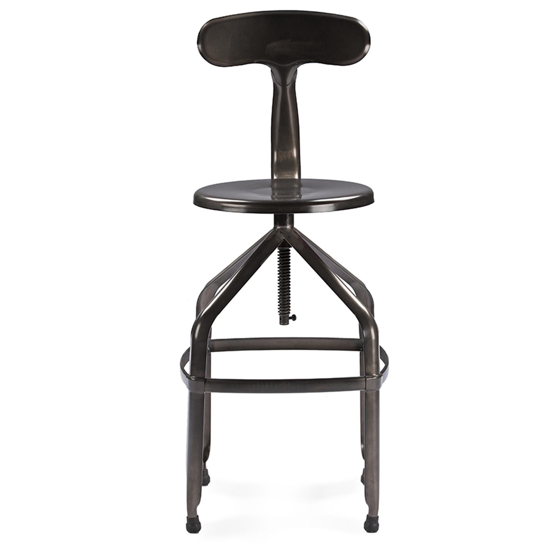 rc willey bar stools. Baxton Studio Architect\u0027s Industrial Bar Stool With Backrest In Gun Metal - IEM-94137X- Rc Willey Stools H