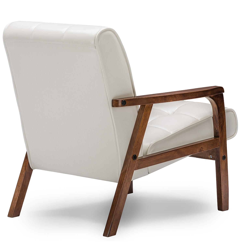 ... Baxton Studio Baxton Studio Mid Century Masterpieces Club Chair   White    IETOGO CC  ...