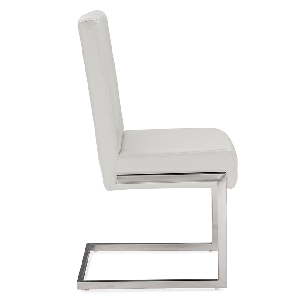 Baxton Studio Toulan Modern And Contemporary White Faux Leather