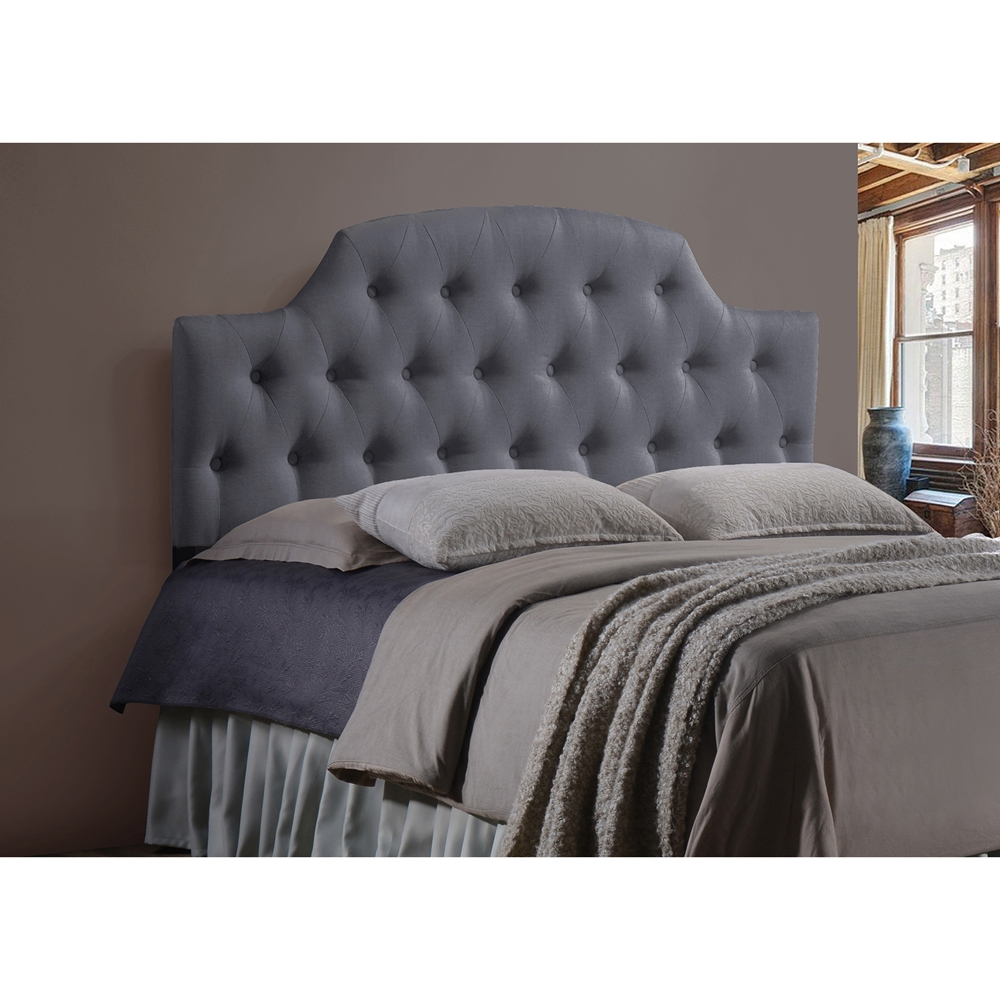 baxton studio morris modern and contemporary queen size grey fabric upholstered button tufted. Black Bedroom Furniture Sets. Home Design Ideas