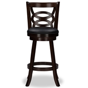 "Baxton Studio Anthea Espresso Brown 29"" Swivel Bar Stool with Upholstered Seat (Set of 2)  Baxton Studio Anthea Espresso Brown 29"" Swivel Bar Stool with Upholstered Seat (Set of 2) , wholesale furniture, restaurant furniture, hotel furniture, commercial furniture"