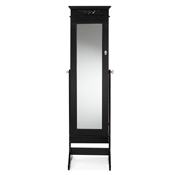 Baxton Studio Bimini Black Finish Wood Crown Moulding Top Free Standing Full Length Cheval Mirror Jewelry Armoire Baxton Studio Bimini Black Finish Wood Crown Moulding Top Free Standing Full Length Cheval Mirror Jewelry Armoire, wholesale furniture, restaurant furniture, hotel furniture, commercial furniture