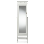 Baxton Studio Bimini White Finish Wood Crown Moulding Top Free Standing Full Length Cheval Mirror Jewelry Armoire Baxton Studio Bimini White Finish Wood Crown Moulding Top Free Standing Full Length Cheval Mirror Jewelry Armoire, wholesale furniture, restaurant furniture, hotel furniture, commercial furniture