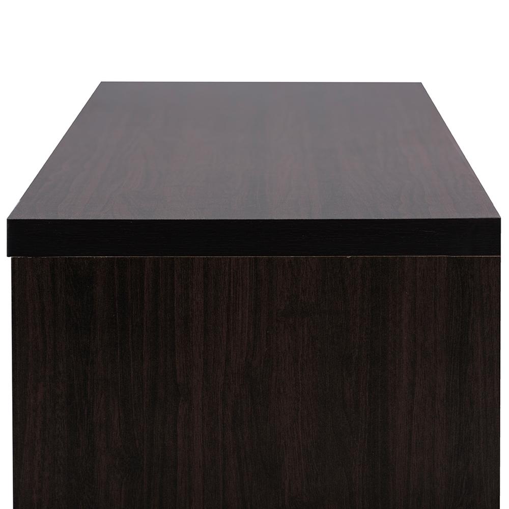 Baxton Studio Beasley 70 Inch Dark Brown Tv Cabinet With 2