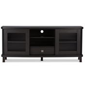 Baxton Studio Walda 60-Inch Dark Brown Wood TV Cabinet with 2 Sliding Doors and 1 Drawer Baxton Studio Walda 60-Inch Dark Brown Wood TV Cabinet with 2 Sliding Doors and 1 Drawer , wholesale furniture, restaurant furniture, hotel furniture, commercial furniture