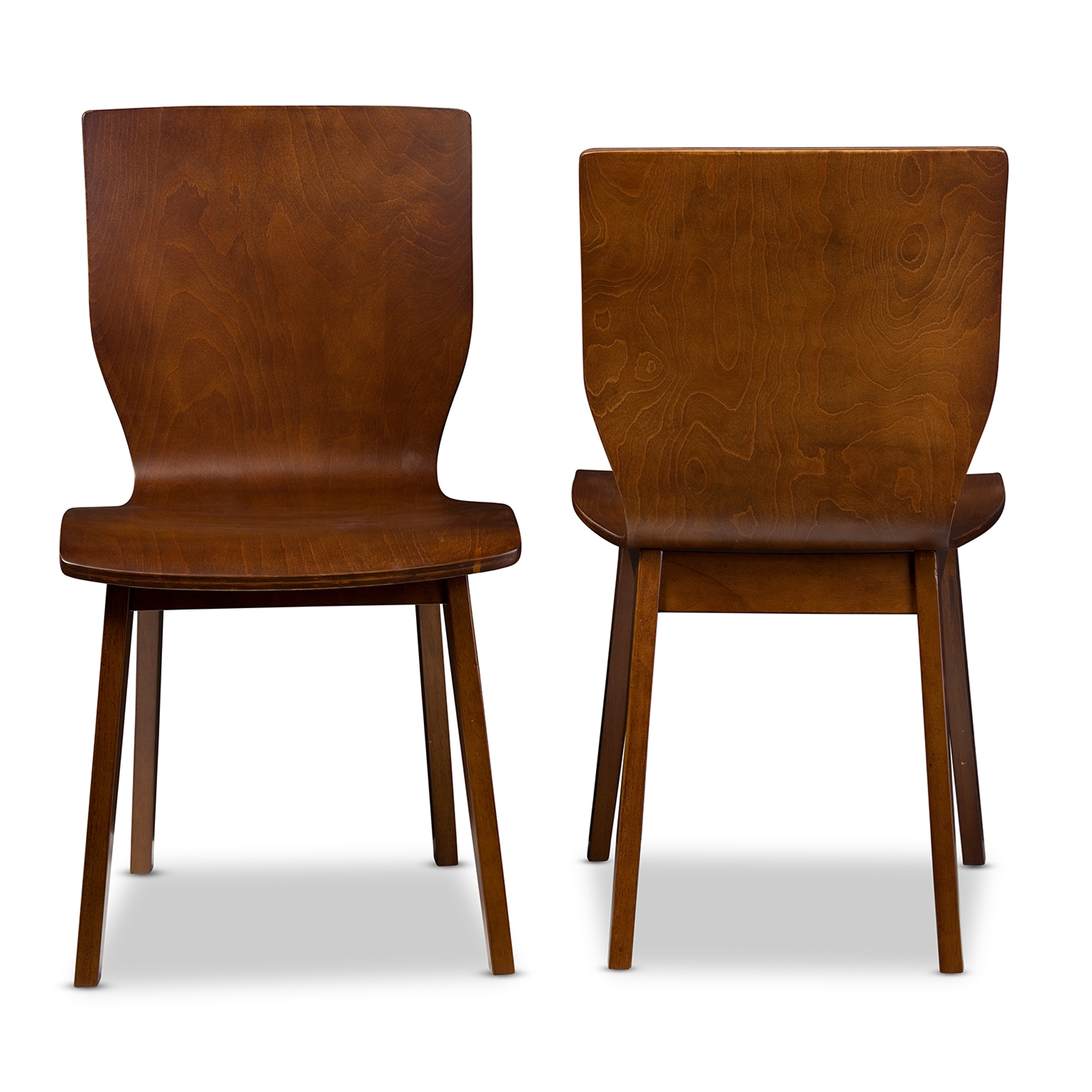 Charmant ... Baxton Studio Elsa Mid Century Modern Scandinavian Style Dark Walnut Bent  Wood Dining Chair ...