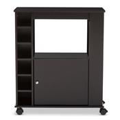 Baxton Studio Ontario Modern And Contemporary Dark Brown Wood Dry Bar Wine Cabinet