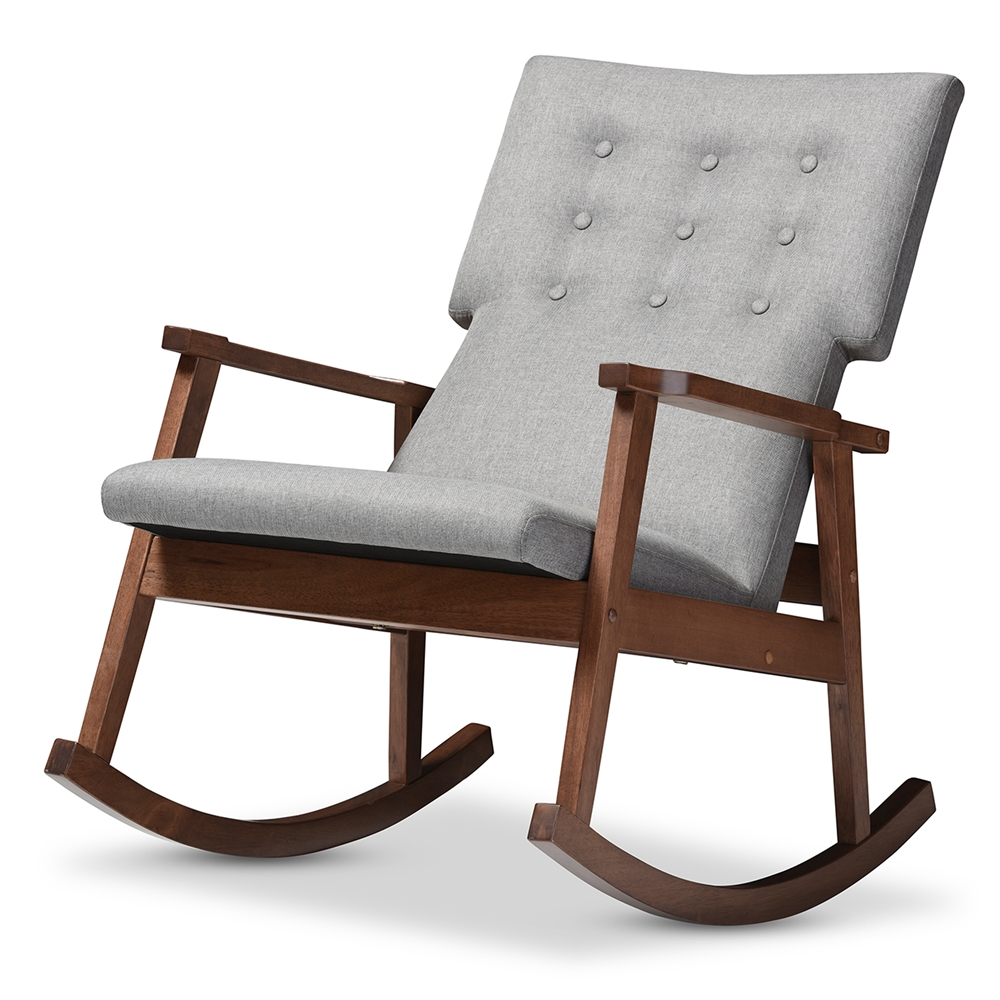 baxton studio agatha mid century modern grey fabric upholstered