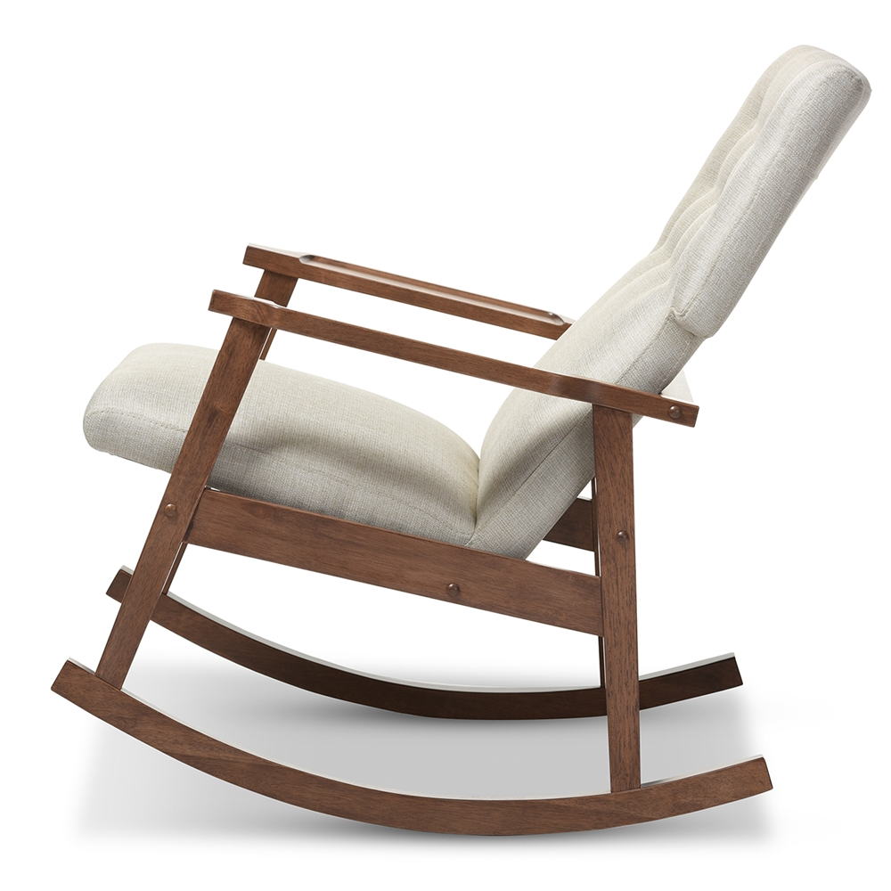 Mid Century Modern Style Chairs Baxton Studio Agatha Midcentury Modern Light Beige Fabric