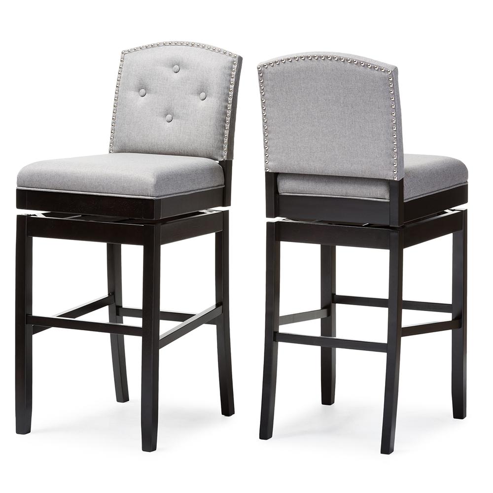 Upholstered Swivel Bar Stools