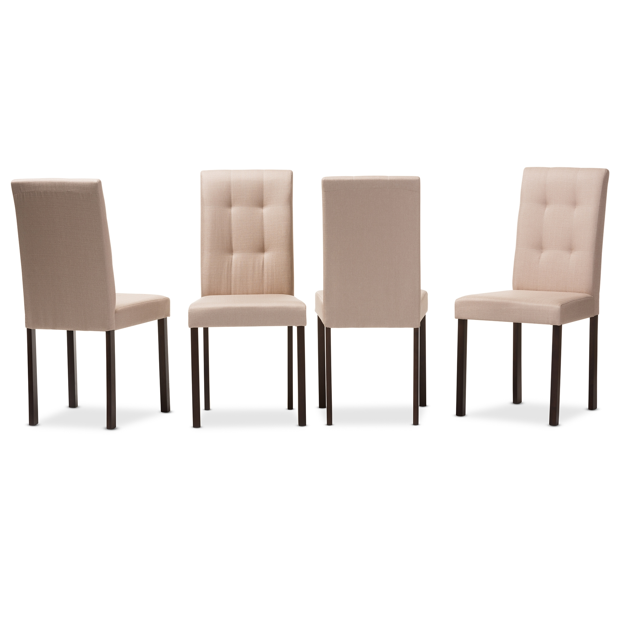Baxton Studio Andrew Modern And Contemporary Beige Fabric Upholstered  Grid Tufting Dining Chair   IEAndrew ...