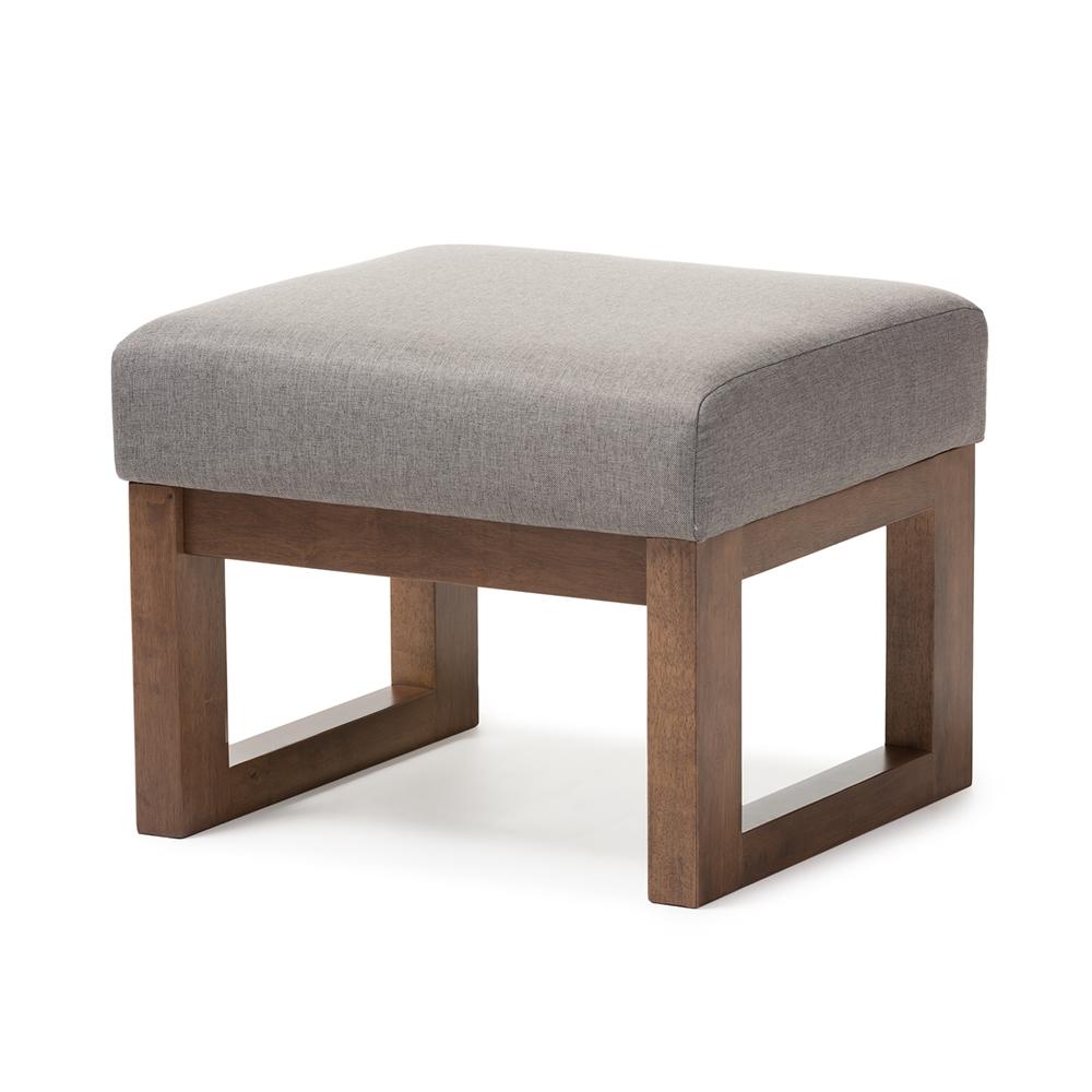 baxton studio yashiya mid century retro modern grey fabric upholstered ottoman stool interior. Black Bedroom Furniture Sets. Home Design Ideas