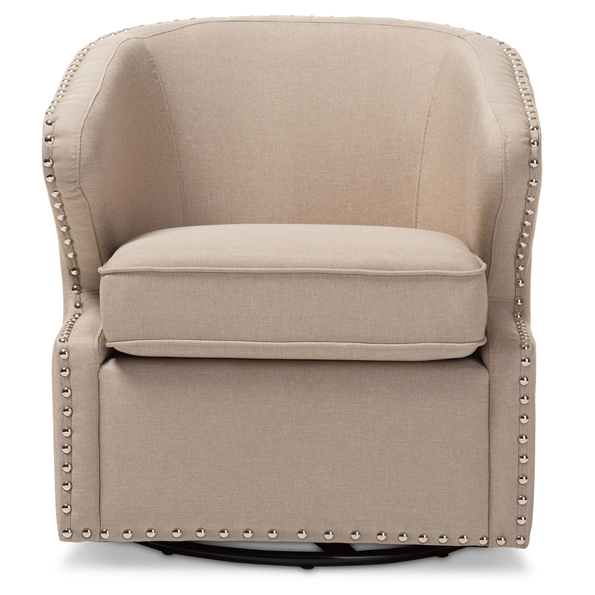 Merveilleux Baxton Studio Finley Mid Century Modern Beige Fabric Upholstered Swivel  Armchair   IEDB 203 ...