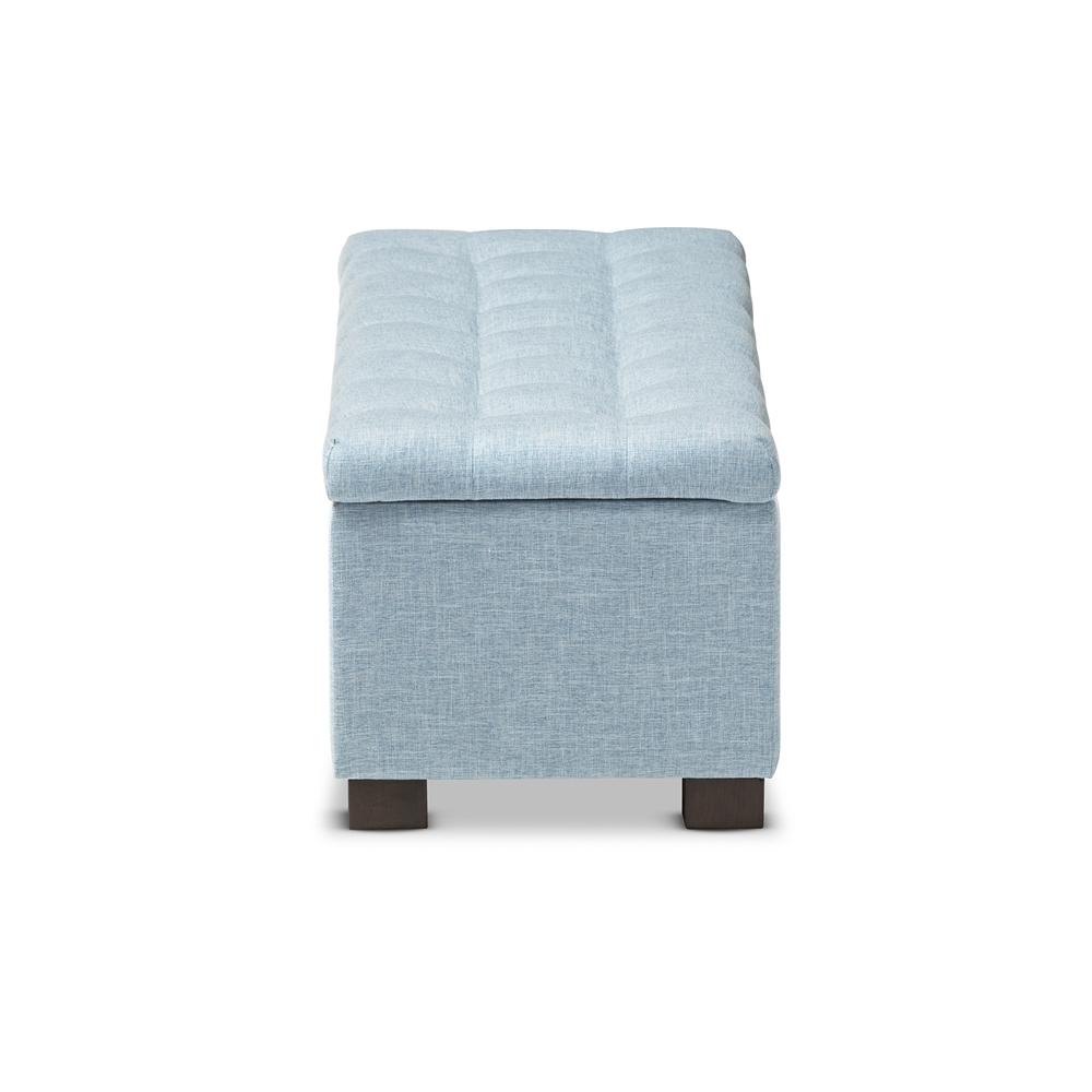 baxton studio roanoke modern and contemporary light blue fabric