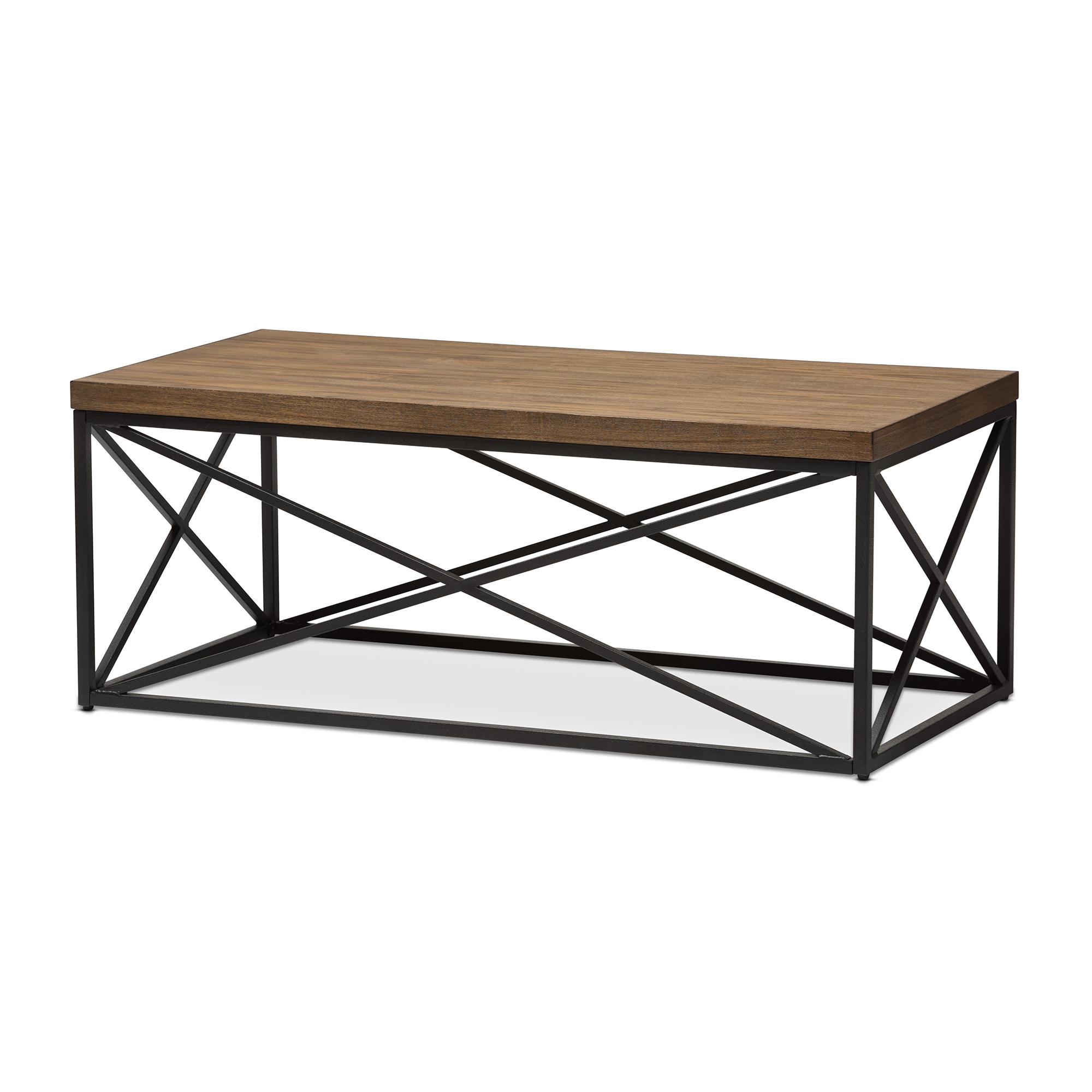 Great Baxton Studio Holden Vintage Industrial Antique Bronze Coffee Cocktail Table    IEYLX 2692 CT ...