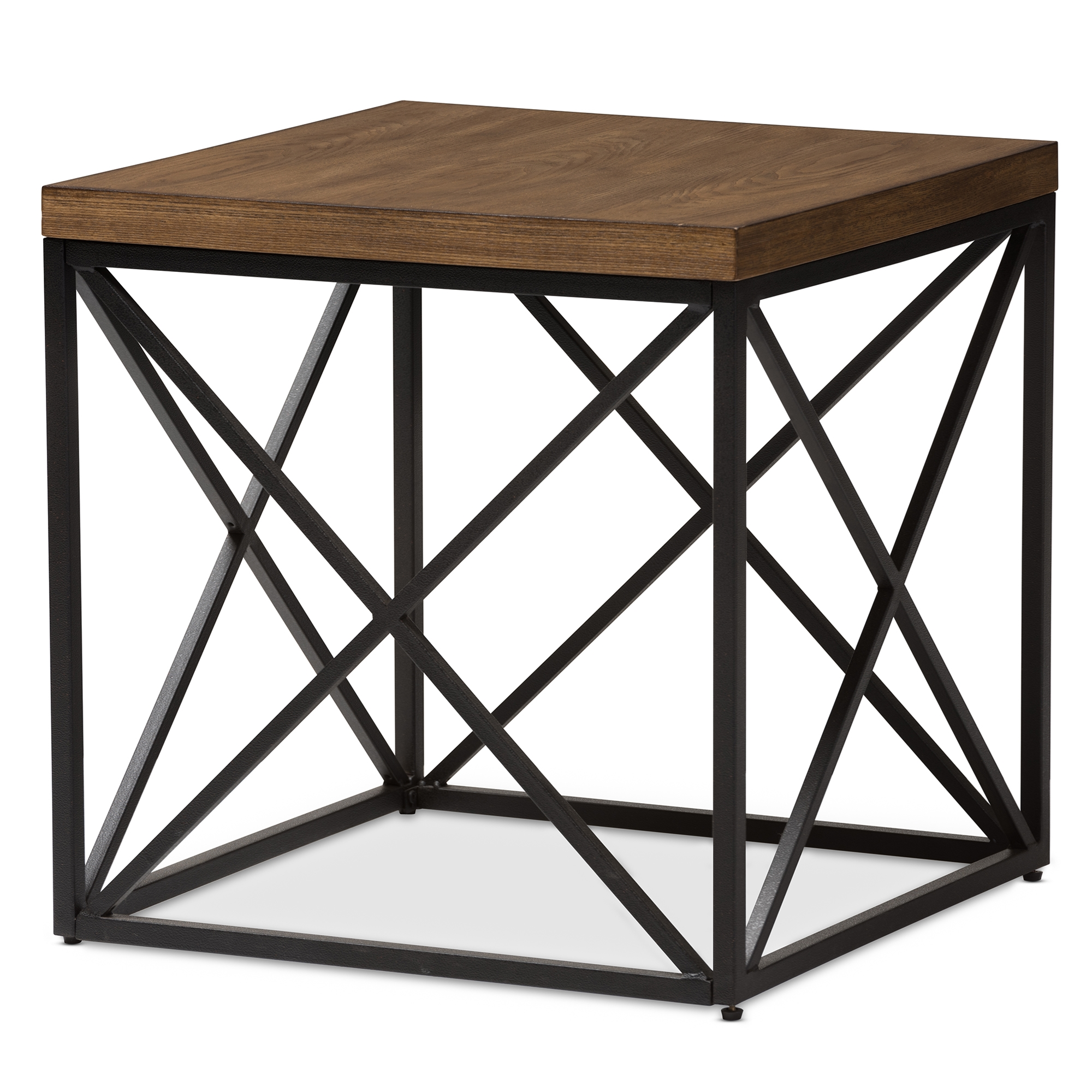 Baxton Studio Holden Vintage Industrial Antique Bronze End Table    IEYLX 2692 ET ...