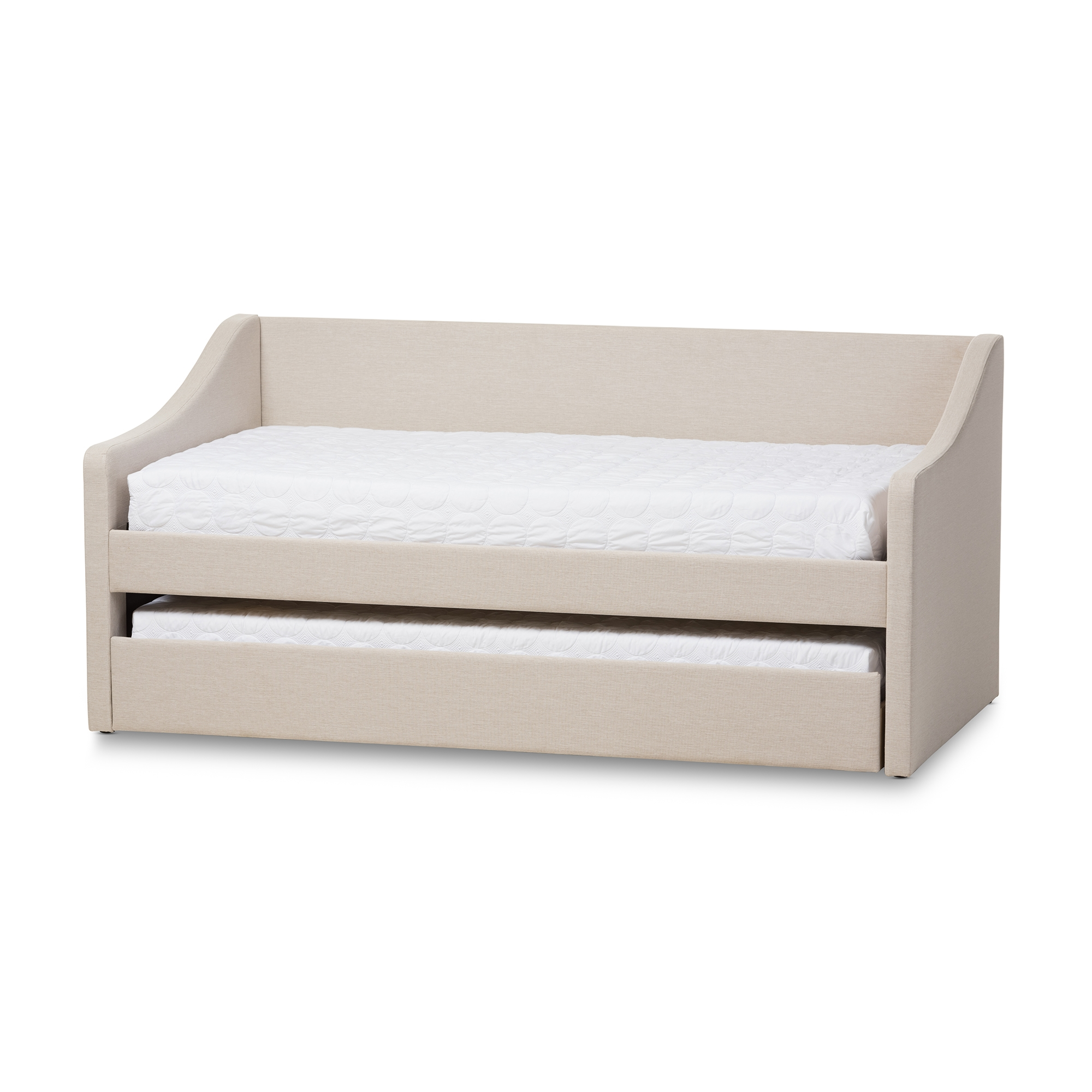 Charmant Baxton Studio Barnstorm Modern And Contemporary Beige Fabric Upholstered  Daybed With Guest Trundle Bed