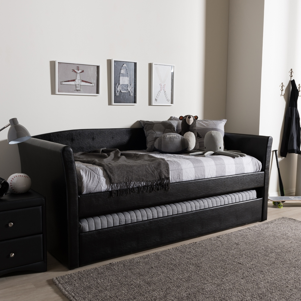 Baxton Studio Camino Modern and Contemporary Black Faux Leather
