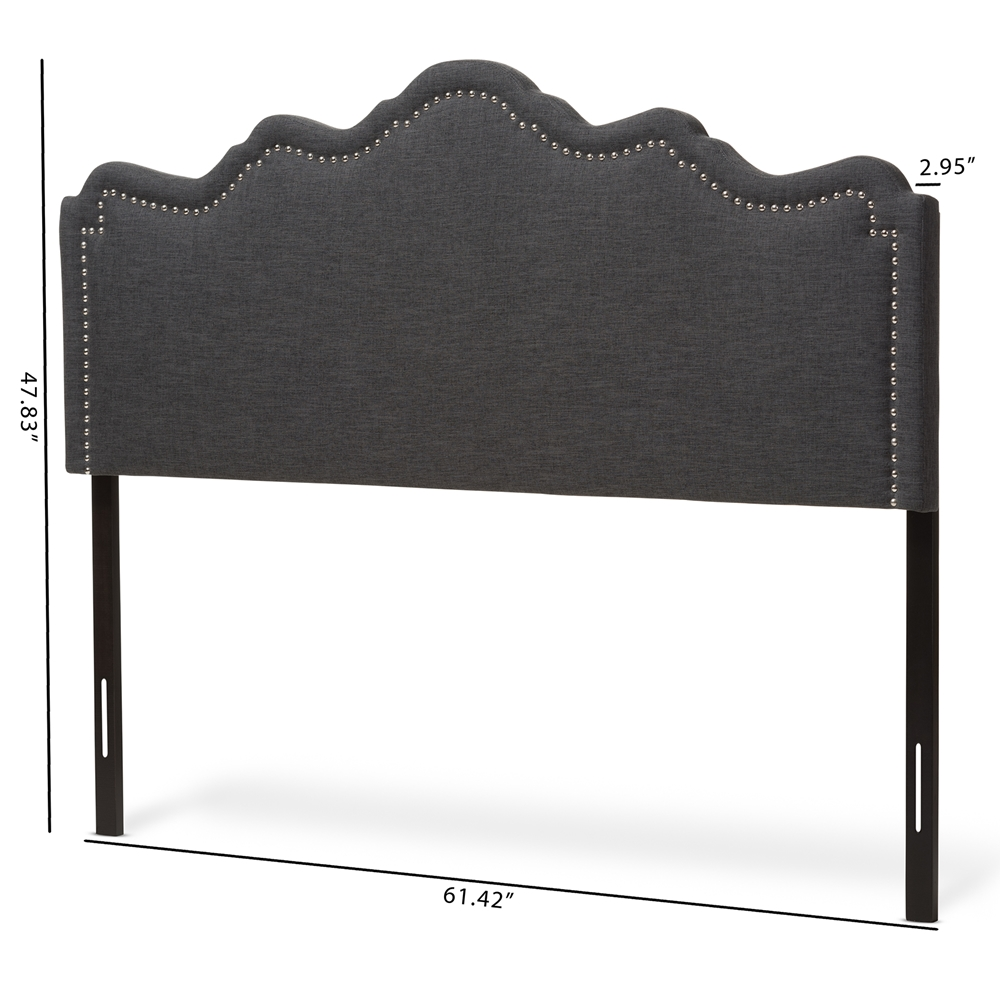 baxton studio nadeen modern and contemporary dark grey fabric king size headboard. Black Bedroom Furniture Sets. Home Design Ideas