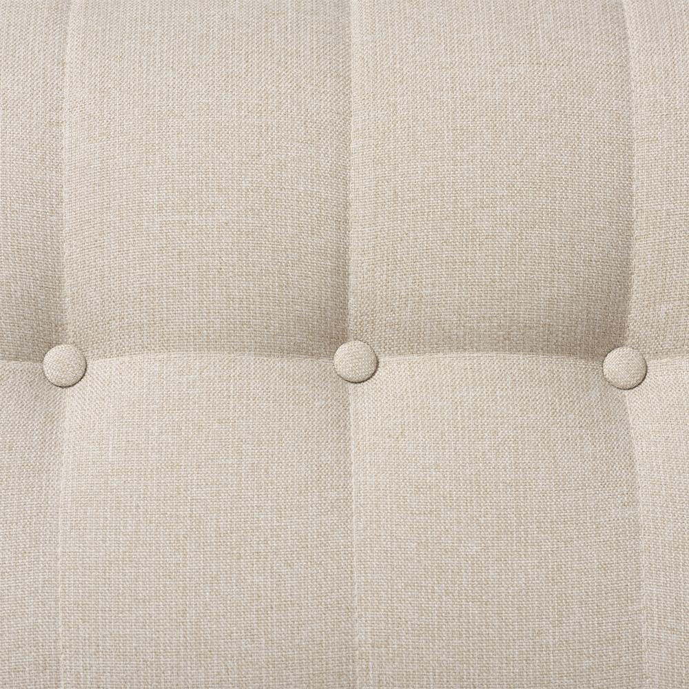 Baxton Studio Mckenzie Mid Century Light Beige Fabric