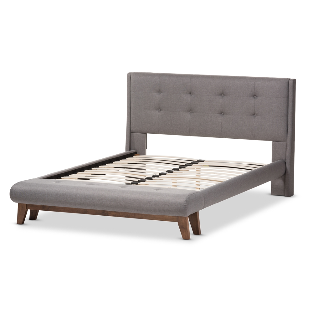 Baxton studio reena modern and contemporary grey fabric Modern platform beds