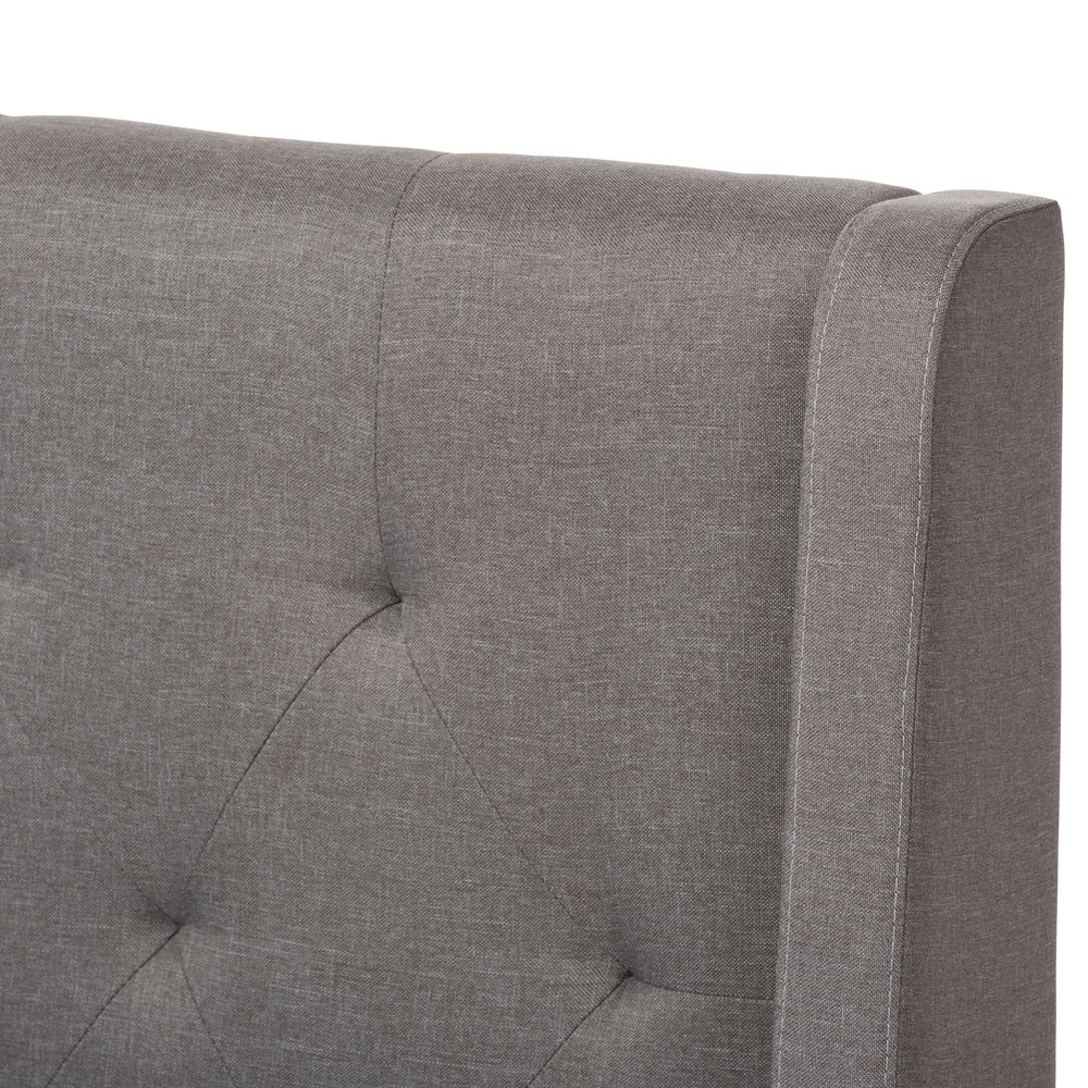 Baxton Studio Adelaide Retro Modern Light Grey Fabric